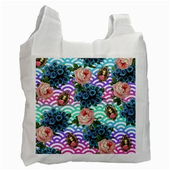 Floral Waves Recycle Bag (two Side)
