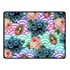 Floral Waves Fleece Blanket (small) by snowwhitegirl