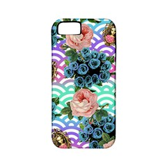 Floral Waves Apple Iphone 5 Classic Hardshell Case (pc+silicone)