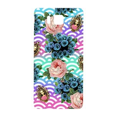 Floral Waves Samsung Galaxy Alpha Hardshell Back Case by snowwhitegirl