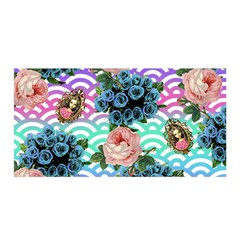 Floral Waves Satin Wrap
