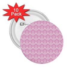 Damask Pink 2 25  Buttons (10 Pack)