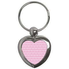 Damask Pink Key Chains (heart)  by snowwhitegirl