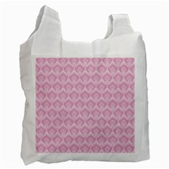 Damask Pink Recycle Bag (one Side) by snowwhitegirl