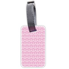 Damask Pink Luggage Tags (one Side)  by snowwhitegirl