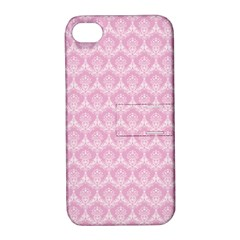 Damask Pink Apple Iphone 4/4s Hardshell Case With Stand by snowwhitegirl