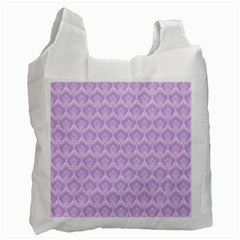 Damask Lilac Recycle Bag (one Side) by snowwhitegirl