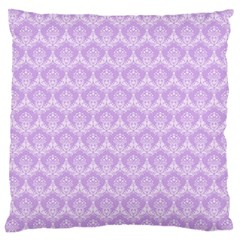 Damask Lilac Large Cushion Case (two Sides) by snowwhitegirl