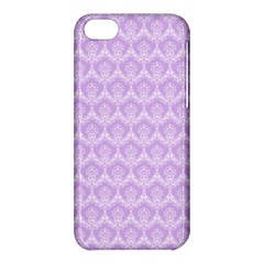 Damask Lilac Apple Iphone 5c Hardshell Case by snowwhitegirl