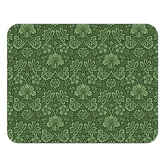 Damask Green Double Sided Flano Blanket (large)  by snowwhitegirl
