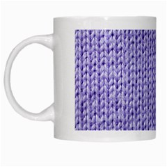 Knitted Wool Lilac White Mugs by snowwhitegirl