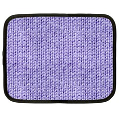 Knitted Wool Lilac Netbook Case (large) by snowwhitegirl