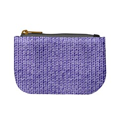 Knitted Wool Lilac Mini Coin Purses by snowwhitegirl