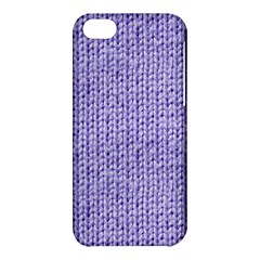 Knitted Wool Lilac Apple Iphone 5c Hardshell Case by snowwhitegirl