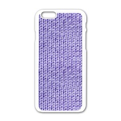 Knitted Wool Lilac Apple Iphone 6/6s White Enamel Case by snowwhitegirl