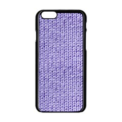 Knitted Wool Lilac Apple Iphone 6/6s Black Enamel Case by snowwhitegirl