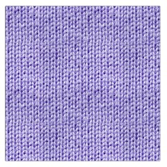 Knitted Wool Lilac Large Satin Scarf (square) by snowwhitegirl