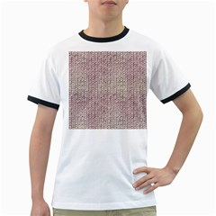Knitted Wool Pink Light Ringer T Shirts