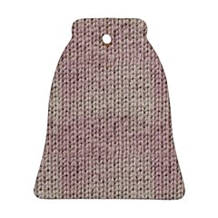 Knitted Wool Pink Light Bell Ornament (two Sides)