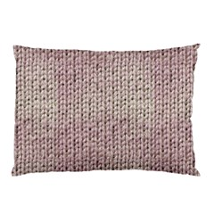 Knitted Wool Pink Light Pillow Case (two Sides)