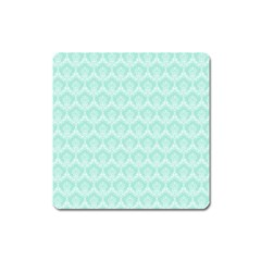 Damask Aqua Green Square Magnet by snowwhitegirl