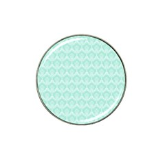 Damask Aqua Green Hat Clip Ball Marker (10 Pack) by snowwhitegirl