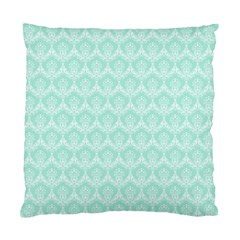 Damask Aqua Green Standard Cushion Case (one Side) by snowwhitegirl