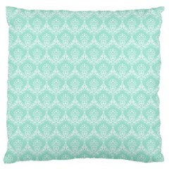 Damask Aqua Green Large Cushion Case (two Sides) by snowwhitegirl