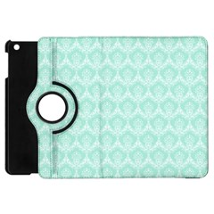 Damask Aqua Green Apple Ipad Mini Flip 360 Case by snowwhitegirl