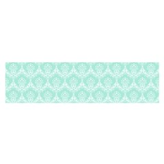 Damask Aqua Green Satin Scarf (oblong) by snowwhitegirl