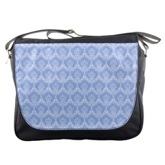 Damask Light Blue Messenger Bags