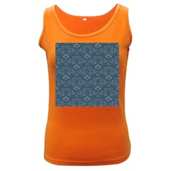Damask Blue Women s Dark Tank Top