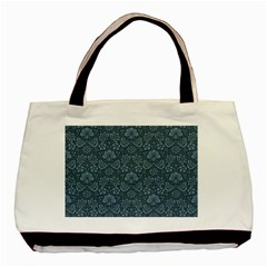 Damask Blue Basic Tote Bag