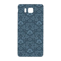 Damask Blue Samsung Galaxy Alpha Hardshell Back Case by snowwhitegirl