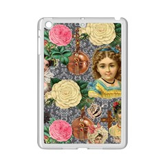 Damask Religious Victorian Grey Ipad Mini 2 Enamel Coated Cases by snowwhitegirl