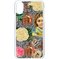 Damask Religious Victorian Grey Apple Iphone X Seamless Case (white) by snowwhitegirl