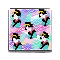 Japanese Abstract Memory Card Reader (square) by snowwhitegirl