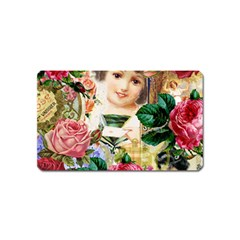 Little Girl Victorian Collage Magnet (name Card) by snowwhitegirl