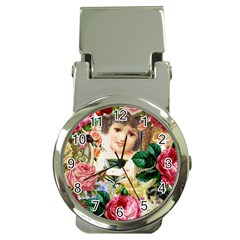 Little Girl Victorian Collage Money Clip Watches by snowwhitegirl