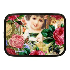 Little Girl Victorian Collage Netbook Case (medium)  by snowwhitegirl