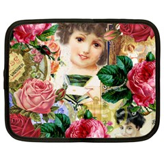 Little Girl Victorian Collage Netbook Case (xxl)  by snowwhitegirl