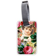 Little Girl Victorian Collage Luggage Tags (one Side)  by snowwhitegirl