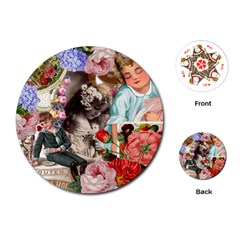 Victorian Collage Playing Cards (round)  by snowwhitegirl