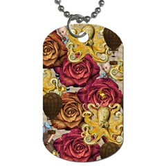 Octopus Floral Dog Tag (two Sides) by snowwhitegirl