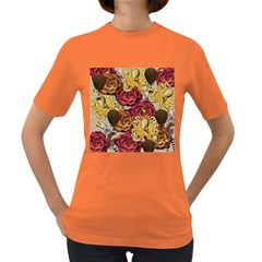 Octopus Floral Women s Dark T Shirt by snowwhitegirl
