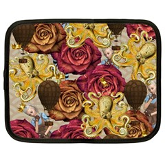 Octopus Floral Netbook Case (xl)  by snowwhitegirl
