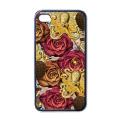 Octopus Floral Apple Iphone 4 Case (black) by snowwhitegirl