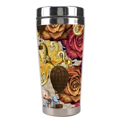 Octopus Floral Stainless Steel Travel Tumblers by snowwhitegirl