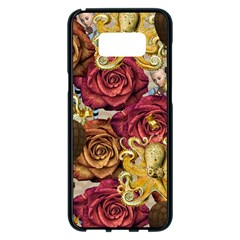 Octopus Floral Samsung Galaxy S8 Plus Black Seamless Case by snowwhitegirl