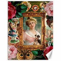 Victorian Collage Of Woman Canvas 12  X 16   by snowwhitegirl